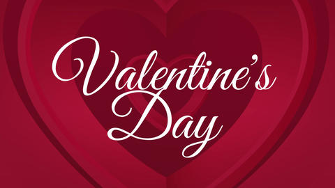 Happy valentines day text with hearts Animation