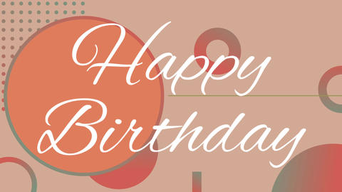 Happy birthday text Animation
