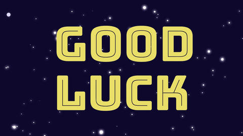 good luck text Animation