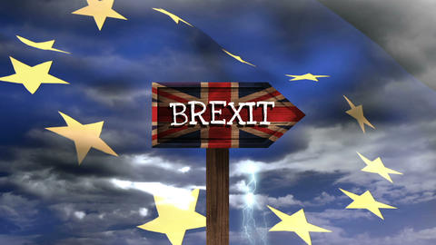 Brexit Sign Video Animation