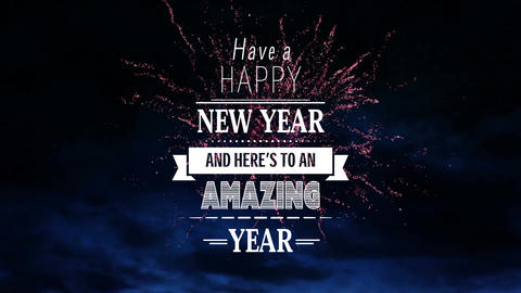 Happy New Year animation with fireworks Animation