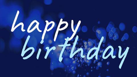 happy birthday on blue background Animation