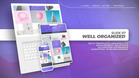 Website Promo After Effects Template