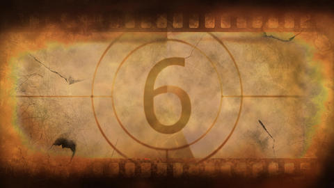 old time film countdown Animation