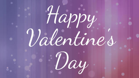 Happy valentines day text Animation