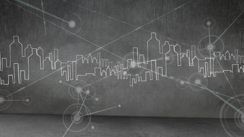 Black and white skyline Animation