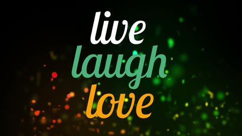 Live laugh love text Animation