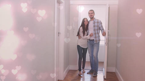 Digital composite of couple moving in together Animation