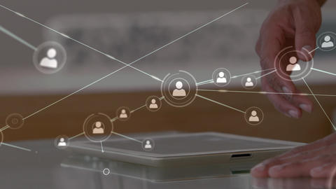 Digital composite of man using digital tablet Animation