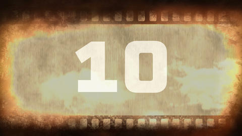 Vintage film countdown animation 4k Animation