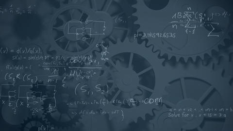Mathematical formulas with gears Animation