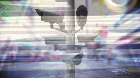 Security camera scanning around background Animation