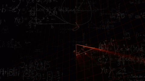 Mathematical formulas moving dark background 4k Animation