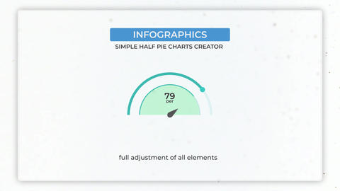 Infographics: Half Simple Pie Charts Creator After Effects Template