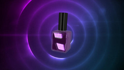Purple spinning nail polish on a purple background Animation