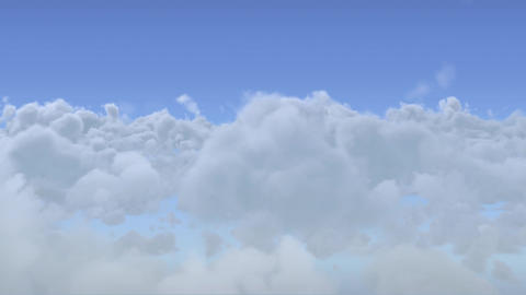 Ditally generated animation of moving clouds Animation