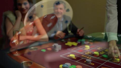 People playing poker in Las Vegas Animation