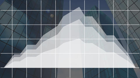 Stock prices with cityscape in background Animation