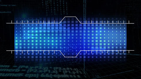 copy space with white border and blue squares grid Animation