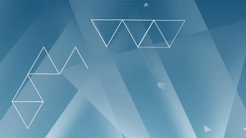Triangles forming on blue background Animation