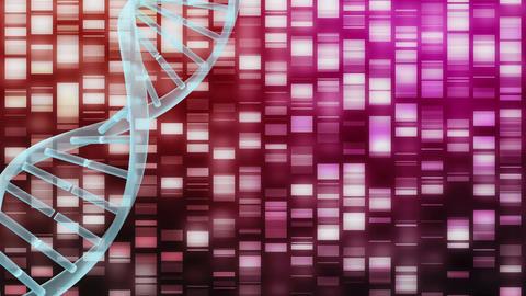 Digital DNA molecule on a cyber background Animation