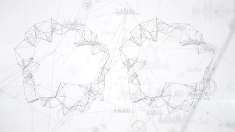 Block chain technology and graph database Animation