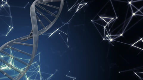 Spinning DNA with data connections Stock Video Footage