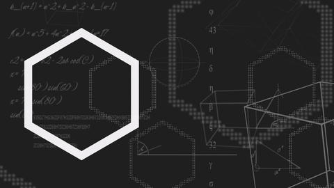 Hexagon being formed Animation