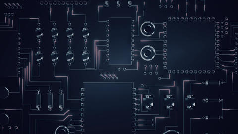 Digital electrical circuit board Animation