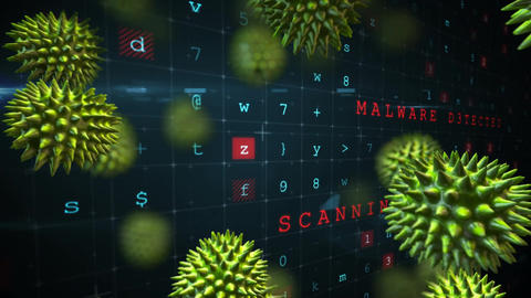 Virus attack in an exposed cyber security Animation