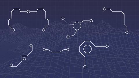 Futuristic design of land planning Animation