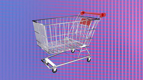 Spinning shopping trolley Animation