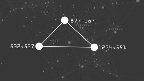 Three connected dots by lines Animation