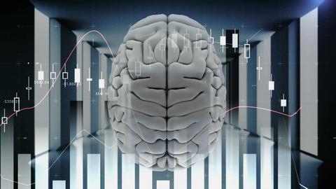 Human brain and technology 4k Animation