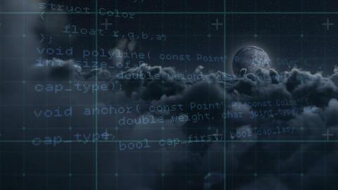 Cloud computer coding Animation