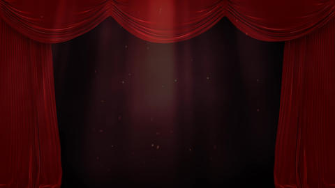 Digital composite of light in water with a red curtain Animation