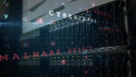 Breach on the digital security 4k Animation