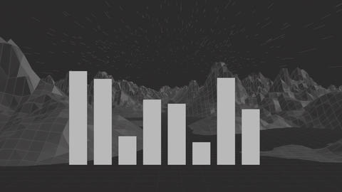 Stocks mountain grid Animation