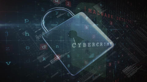 Data hacking attack 4k, Stock Animation