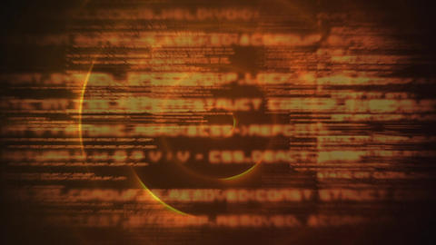Digital composite of source codes and digital scripts Animation
