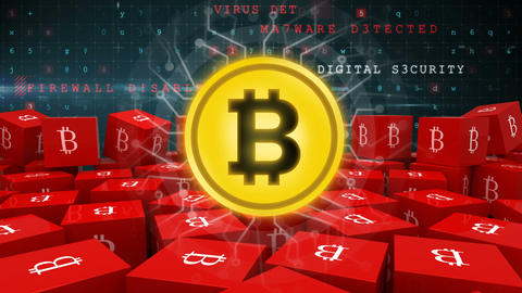Bitcoin and its role in cyber security 4k Animation