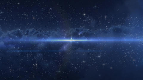 Digital composite of the horizon in a visual media Animation