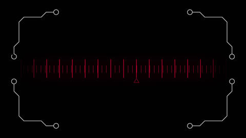 Digital composite of a moving measurement line Animation