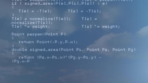Digital composite of HTML coding Animation