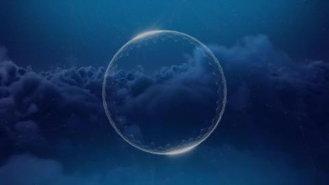 Digital composite of a transparent sphere Animation
