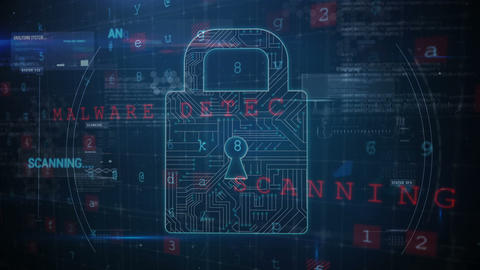 Ransomware attack: digital security at risk 4k Animation