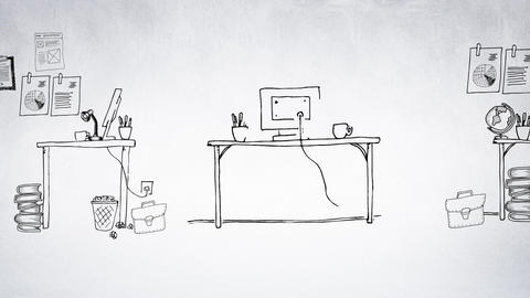 Computer work station Animation