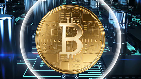 Bitcoin mining 4k Animation