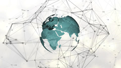 Digital composite of the worldwide blockchain technology Animation