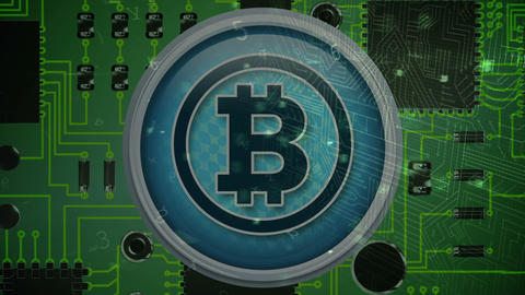 Bitcoin security through the digital lock 4k Animation